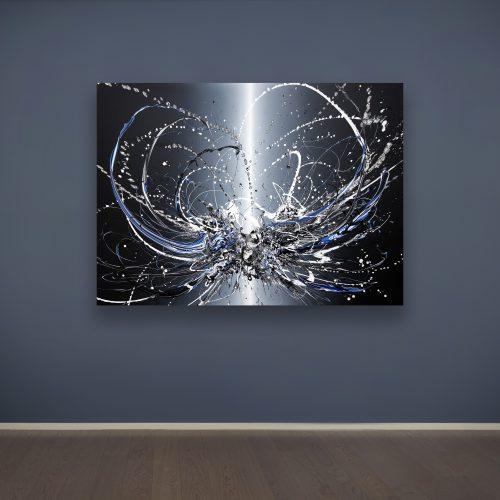 Katrin Fridriks, Beam of Light - Gene and Ethics, 2020, acrilico su tela, 130x180 cm